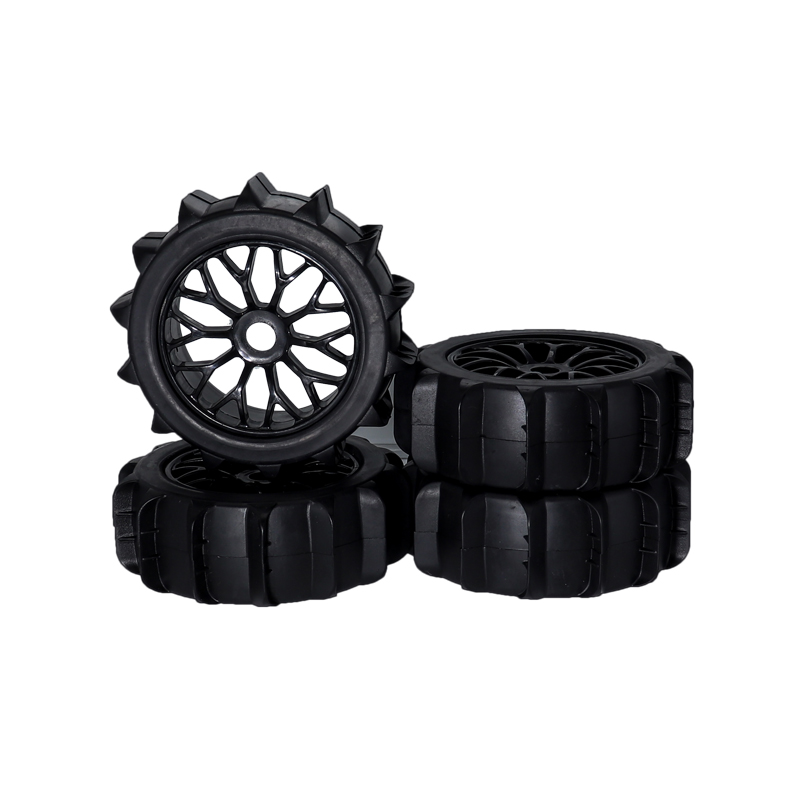 RC 1/8 RC Off Road Buggy Snow Sand Paddle Tires/Tyre and Wheels for 1/8 RC Car Buggy KYOSHO HPI LOSI HSP