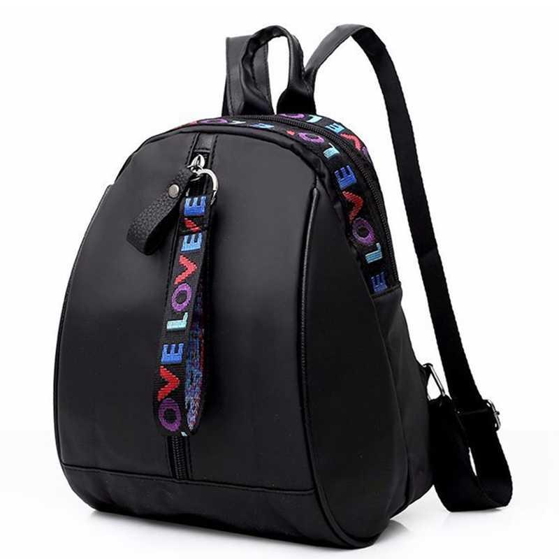 65db2949223f Модные женские туфли лакированная кожа рюкзак ткань Оксфорд обувь для  девочек школьная сумка женский простой мини
