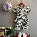 Europe 2016 new summer children's camouflage suit. T-shirt + shorts piece fitted, when boys and girls aged 2-7
