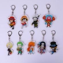 zheFanku cartoon One piece Acrylic keychain Luffy Zoro