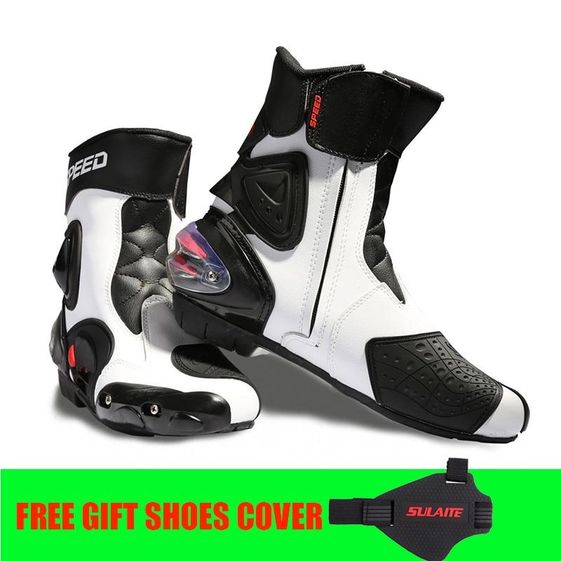 Motocicleta profesionale Mid-vițel Racing Boots dimensiune 40 ~ 45 Microfibră piele off pantofi de rufe Motocross Boot