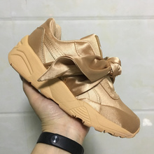 Puma Fenty Women Trinomic Sneakers Badminton shoes Professional Lace-up  Silk Bow ties Rihanna sports 8656774a9