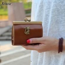 Vintage mujeres billeteras pequeño bolso Retro embrague Llave HASP monedero Mini Bolso pequeño Femenino 2017