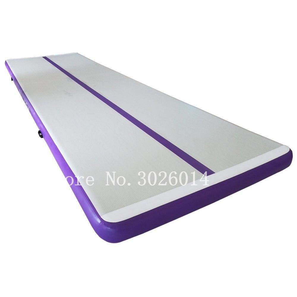 Livraison gratuite 4*1*0.1 m gonflable Air piste Gym tapis culbutant maison étage gymnastique Cheerleading Pad gonflable Trampoline