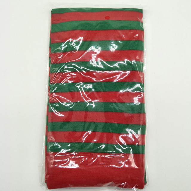 Elf Tights Striped Red Green Colors Christmas Carnival Decoration Fancy Dress Gorgeous Costume Knee Stockings Soxs