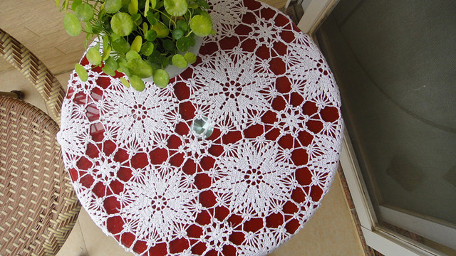 Hot sale100% cotton hand Crochet tablecloth 85x85cm decorative Table cover doily hand crochet sofa cover