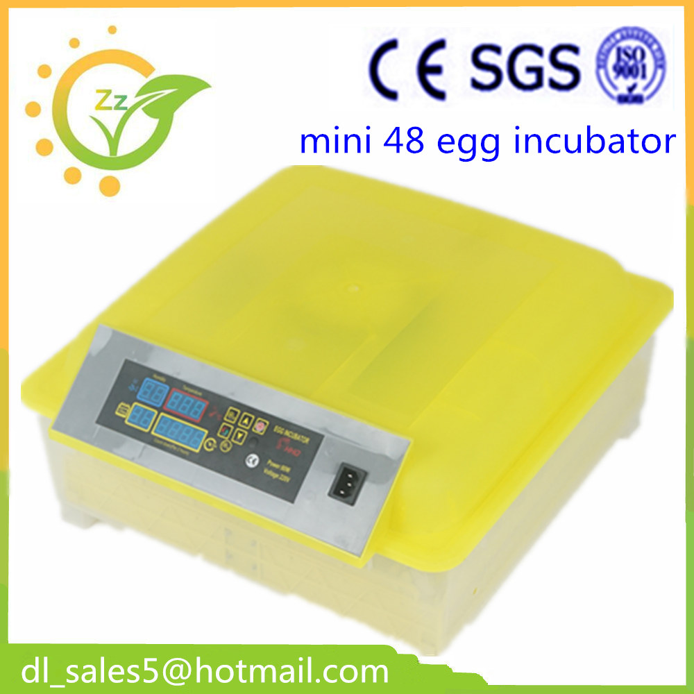 ФОТО  China cheap fully 48 automatic egg incubator free shipping small Chicken egg incubator hatching machine