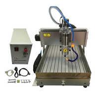4 ejes fresadora cnc 6040 2200W husillo de grabado de metal con tanque de agua y interruptor de límite de tornillo de Corte libre