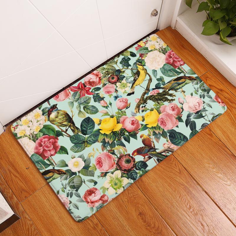 2017 Neue Qualitativ Hochwertige Kreative Teppiche Waschbar Schne Blume Teppich Matten Schlafzimmer Rutschfeste Fussmatten Bereich