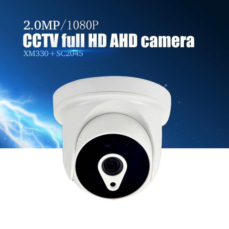YiiSPO AHD 1080 P IR Mini Dome Kamera 2.0MP AHD Kamera indoor IR-SPERR Nachtsicht 3,6mm XM330 + SC2045 indoor cctv kamera