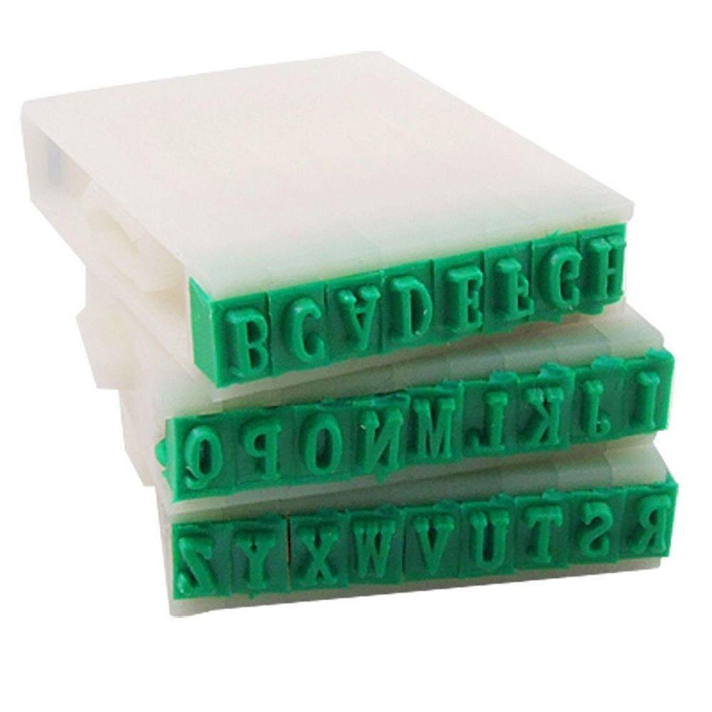 Detachable Plastic Rubber 26 English Alphabet Letters Stamp Set