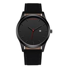 2018 Fashion Large Dial Military Quartz Men Watch Leather Sport watches Complete Calendar Clock Wristwatch Relogio Masculino T26