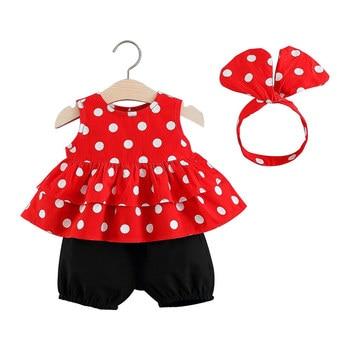 Children's Wear 2019 Summer Female Baby Summer Set Korean T-Shirt Short Sleeve Shorts Fashion Sleeveless Set
