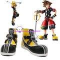 Ustom hecha anime Kingdom Hearts II Sora Cosplay Patea los zapatos negro y amarillo Hecho A Mano de Halloween Navidad