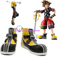 ustom-made anime Kingdom Hearts II Sora Cosplay Boots shoes black & yellow Hand Made for Halloween Christmas