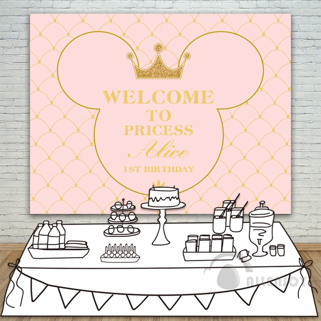 Princess party backdrop baby shower 1st birthday invitation princess party backdrop baby shower 1st birthday invitation celebration party pink table banner photocall background allenjoy stopboris Image collections