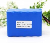 Kluosi 3s5p 12 v 배터리 팩 11.1 v/12.6v12500mah 리튬 배터리 팩  25a 밸런스 bms  led 라이트 백업 전원 공급 장치