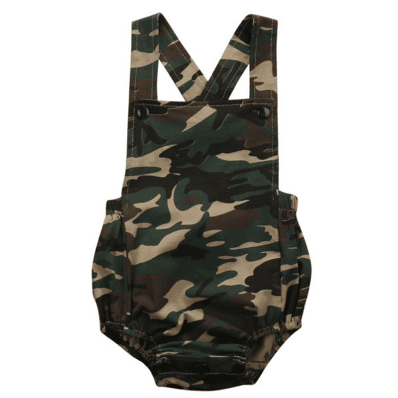 Summer Baby Rompers Newborn Baby Clothes Cool Baby Boy Clothes Baby Girl Clothes Roupas Bebe Infant Jumpsuits Camouflage Style