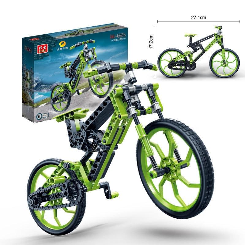 все цены на Bike building block set Compatible with gift brick bicycle mtb bike 3D Construction Brick Educational Hobbies Toys for Kids 6959 онлайн