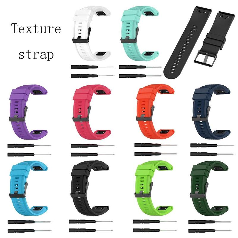26mm Glossy/Texture Sports Watch Strap for Garmin Fenix 5X Plus Fenix 3 HR D2 Easyfit Wrist Band Strap with Installation Tool stainless steel watch band 26mm for garmin fenix 3 hr butterfly clasp strap wrist loop belt bracelet silver spring bar