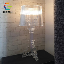 Transparent Table Lamps For Bedroom Living Room Bedside Table Lamps Desk Lamp Light transmission Light Modern Led(China)