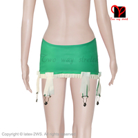 Latex Garters Rubber suspender Belt girdle Skirt straps Tights High socks Stockings ruffles bow grips Waspie clip plus DWD 002