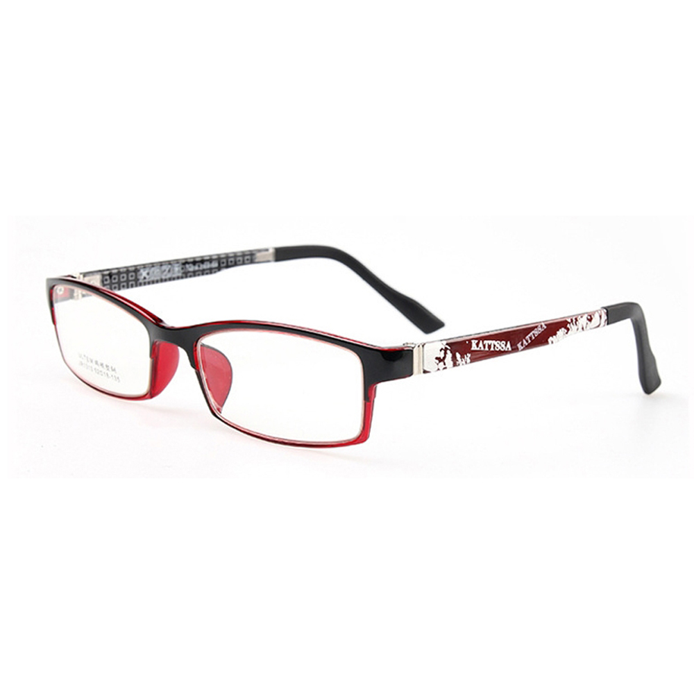 Moda rectángulo marco de las lentes para hombres mujeres lente ...