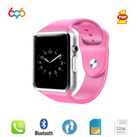 696 NEW A1 colorful Pedometer Bluetooth SmartBand women Sports Smart Watch Clock with Camera GSM SIM TF Card for Android and IOS