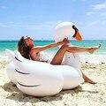 1.5 M 60 Polegada PVC Gigante Branco Cisne Rideable Inflável Float Piscina Brinquedo Divertido Salão Piscina de Água Anel da Nadada Férias brinquedos