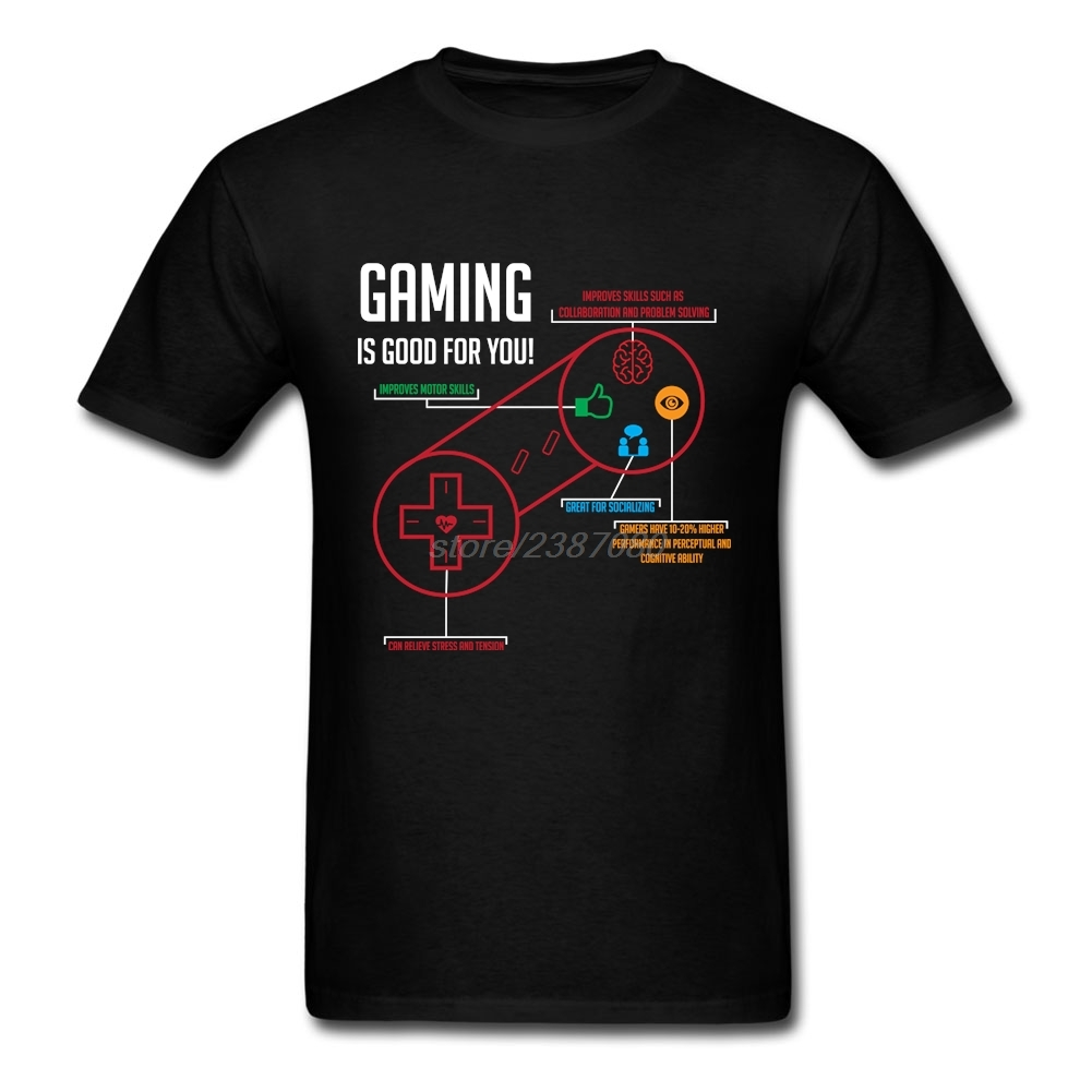 Crewneck T Shirt Man Best Selling Gaming Is Good For You T-Shirts Mens 2019 Fashion Cool Tees