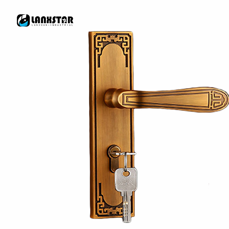Factory Direct Supply High Quality Zinc Alloy Handle Lock European Style Wooden Door Lock A Grade Refined Mechanical Mute Locks european style door lock high quality classic zinc alloy handle lockset 2012 latest fashion type