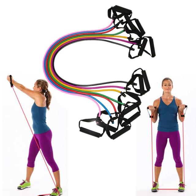 Elastic Yoga Pull Rope Fitness Resistance Bands Exercise Tubes Practical Training Elastic Band Rope Yoga Workout Stretch band