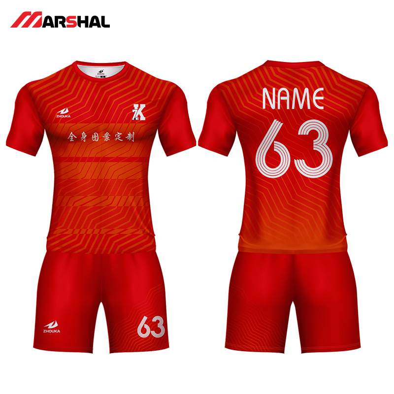 Professionalized custom any logo football kits maker team sports uniforms soccer jersey designer