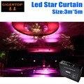 Дешевая цена 3 м * 5 м светодиодный занавес со звездой для сценического фона СВЕТОДИОДНЫЙ занавес экран RGB/RGBW цвет смешивания Звездная ткань