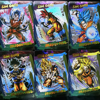 42pcs/set Super Dragon Ball Ink Style Heroes Battle Card Ultra Instinct Goku Toys Collectibles Game Collection Cards