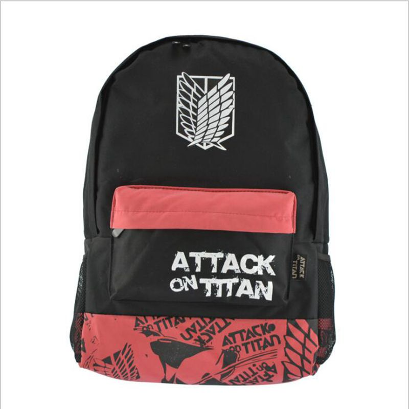 Fashion hot selling cartoon teenager student school bag anime attack on titan Backpack