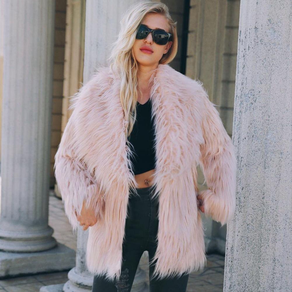 Femmes fourrure manteau femmes moelleux chaud à manches longues survêtement automne hiver manteau veste poilue pardessus grande taille 3XL