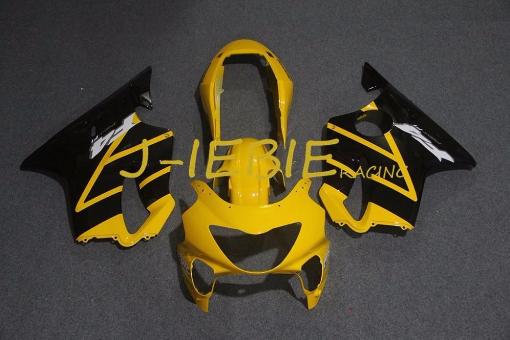 Black yellow Injection Fairing Body Work Frame Kit for HONDA CBR600 CBR 600 F4 1999 2000