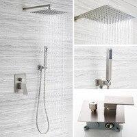 Дождевой смеситель для душа системы настенный душ с дождевой насадкой 8 дюймов регулируемый держатель для душа роскошный душ для ванной наб
