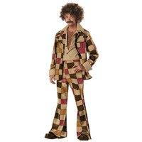 Ladies Mens 60s 70s Retro Hippie Go Go Girl Disco Fancy Jumpsuit Boogie Babe Hen Party Costume