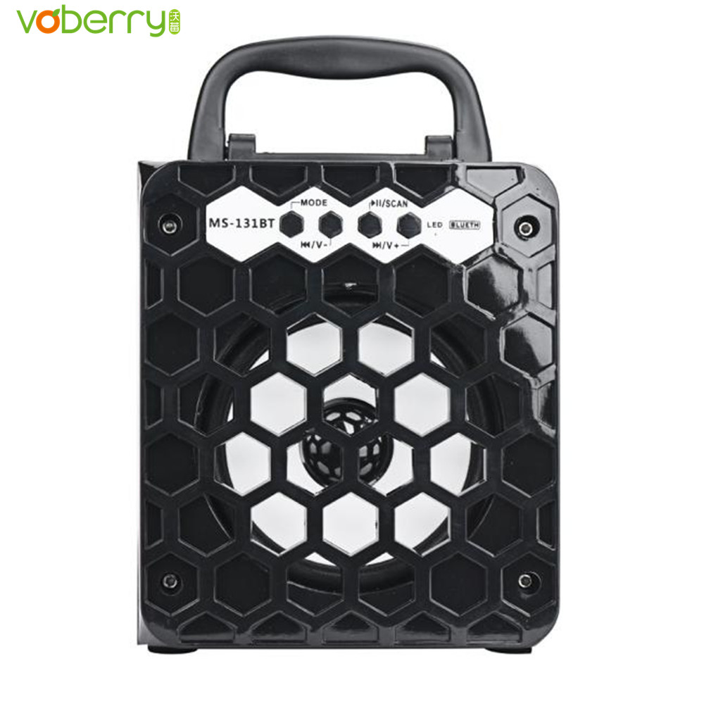 MS &#8211; 131BT Portable High Power Output Multimedia Wireless Bluetooth Speaker Support FM Radio TF Card with Built-in <font><b>600mAh</b></font> Black