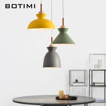 BOTIMI LED Pendant Lights For Dining Modern Restaurant Lamp with Lampshades Single E27 Bar Light 3 Hanging Lamps
