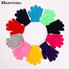 1 Pair Cute Winter Warm Children font b Gloves b font Knitted Stretch Mittens font b