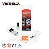 Alloy Wheel Repair Kit With Adhesive Silver DIY Fix Tools For Car Scratches Repair Accessory Permanently
