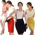 2017 Fashion New High waisted Plus Size Pencil Skirt for women S/M/L/XL/XXL/3XL 6 Sizes White/Black/Red/Yellow