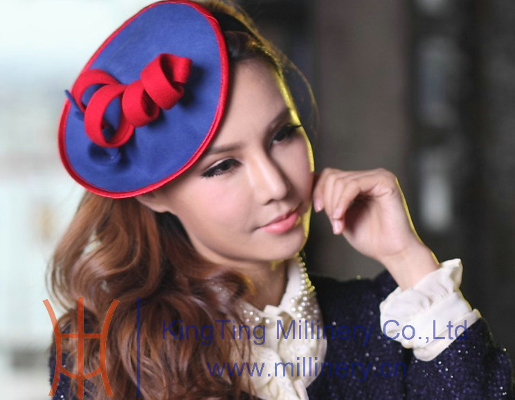 Free Shipping Fashion New Women Fascinator Hair Accessory Women Wool Felt Fascinator Hat Flower Girl Hair Accessory New Arrival