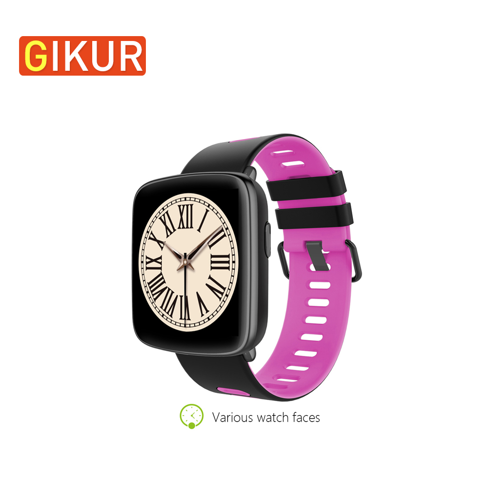 GIKUR GV68 Smart Watch IP68 Waterproof Bluetooth 4.0 MTK2502 Smart Bracelet Message Phone Call Reminder Heart Rate Monitor Watch elephone w1 bluetooth v3 0 0 49 oled smart bracelet watch w call reminder stopwatch rose gold