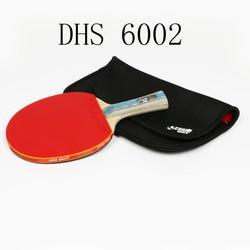 Dhs 6002 raquete de tênis de mesa com capa borracha tênis treinamento profissional pingpong raquetes paddle presente natal