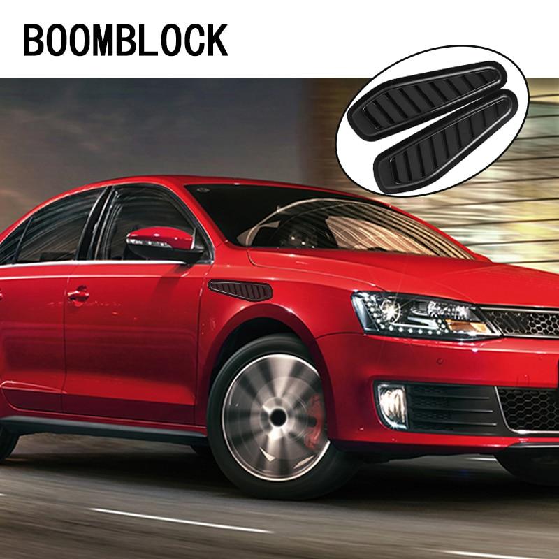 BOOMBLOCK 2pcs/set 3D Car Leaf Stickers Carbon Fiber For Saab Chevrolet Cruze VW Passat B5 B6 B7 Toyota Corolla 2008 RAV4