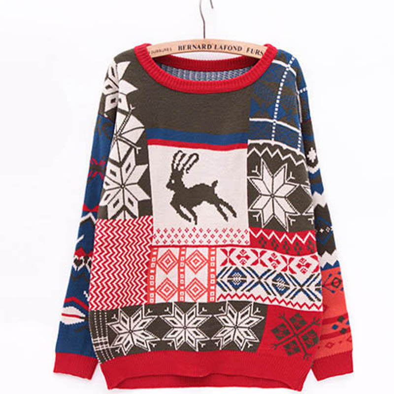 Sweater With Deer pullover women Sweaters And Pullovers Gilet Femme Manche Longue Sueter Mujer Cashmere Sweater